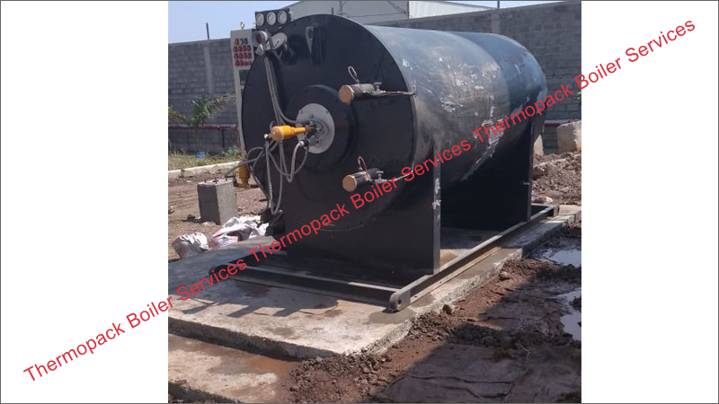 Erection of Oil Fired Thermic Fluid Heater