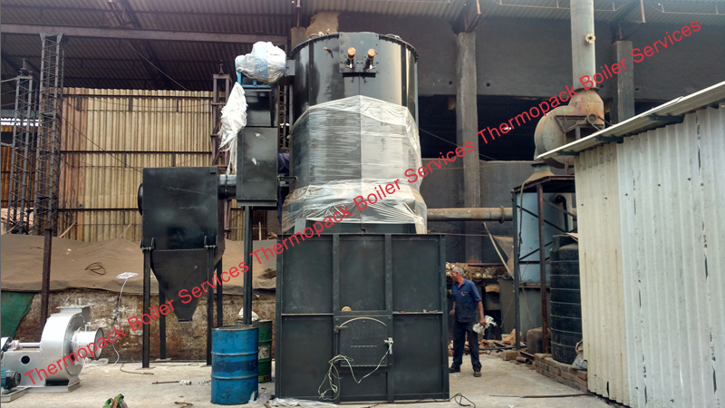Erection of Powder Coal Fired Thermic Fluid Heater