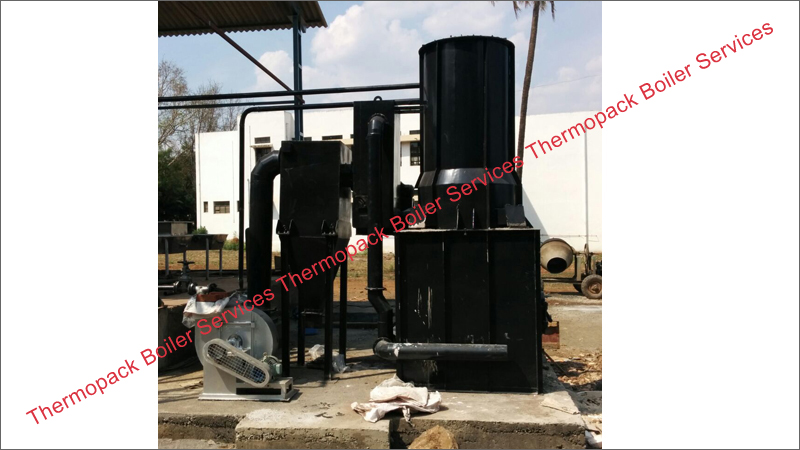 Erection of Wood Fired Thermic Fluid Heater